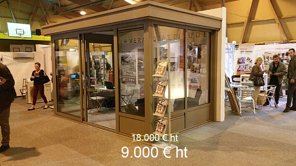 veranda d'exposition a vendre