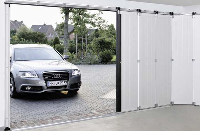garage à porte plante