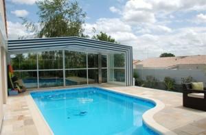 Installation abris de piscine à l'Isle Adam