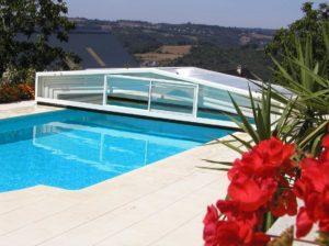 abris de piscine blanc