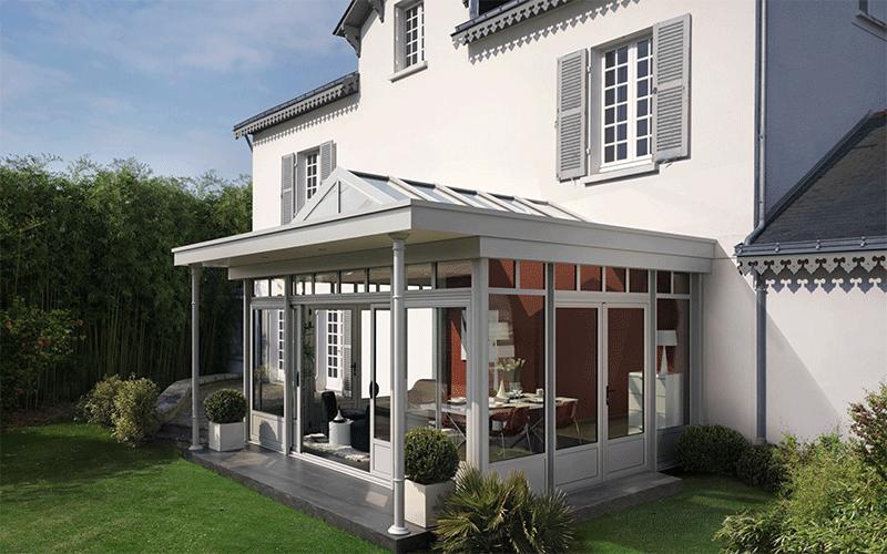 Véranda villa Verre Clair Oise et Val d'Oise