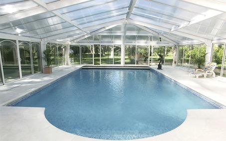 Véranda piscine Verre Clair